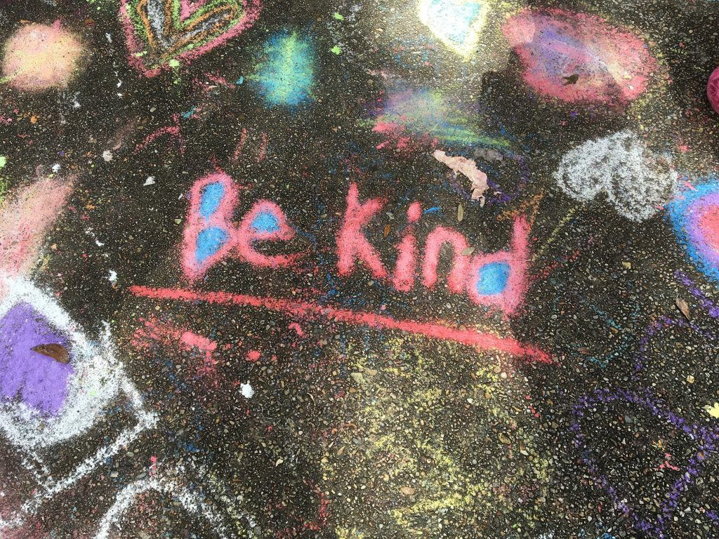 Be kind written chalk