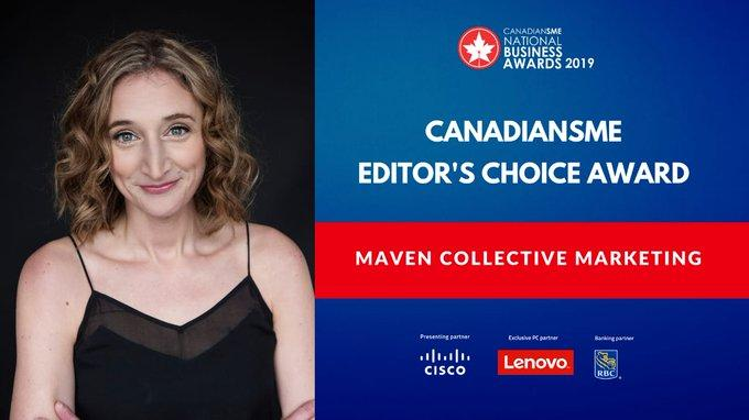 Editors Choice Award Winner - CanadianSME Business Awards - McM