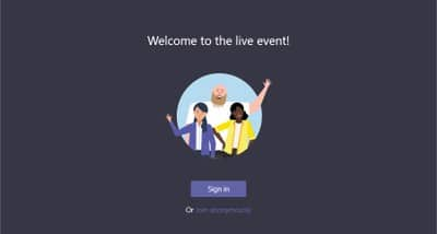 Microsoft Teams Live Webinar and Virtual Event Platform