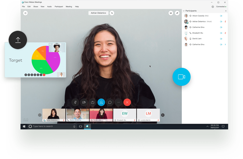 Live webinar virtual event with ciscowebex