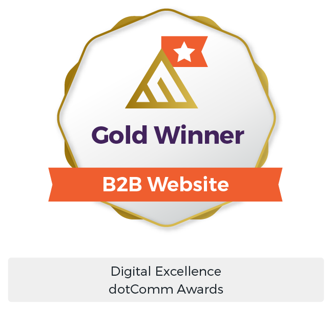B2B Digital Marketing Award - dotComm Gold Winner - Maven Collective Marketing