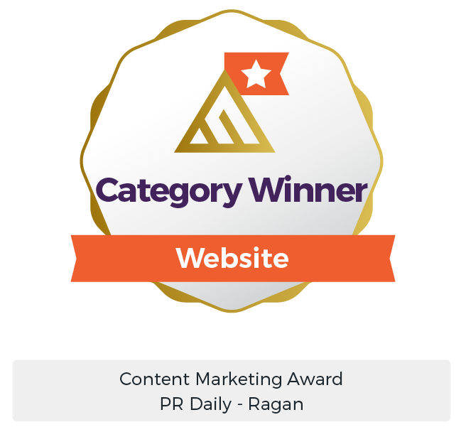 B2B Marketing Services Award - Gold Winner Content Marketing Award PR Daily Ragan - Maven Collective Marketing